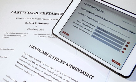 Last Will and Living Trust Packages for Individuals or Family from Standard Legal (50% Off)