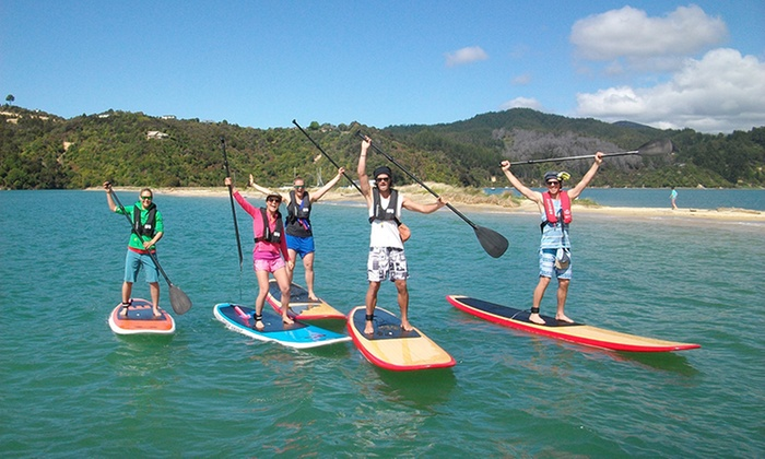 Abel Tasman SUP - Marahau, Motueka: Two-Hour Stand-Up Paddleboard Hire for One ($18), Two ($35) or Four People ($69) from Abel Tasman SUP (Up to $160 Value)