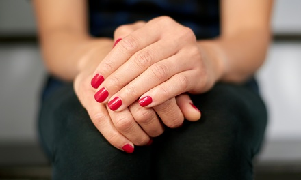 Gel Manicure, Pedicure or Both at Serenity Health Beauty Wellbeing (Up to 62% Off)