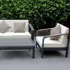 Zuo Modern Outdoor Seating Set in Gray (4-Piece)