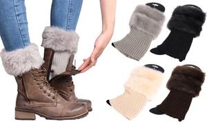 (Mode)  Chaussettes fourrure pour bottes -61% réduction