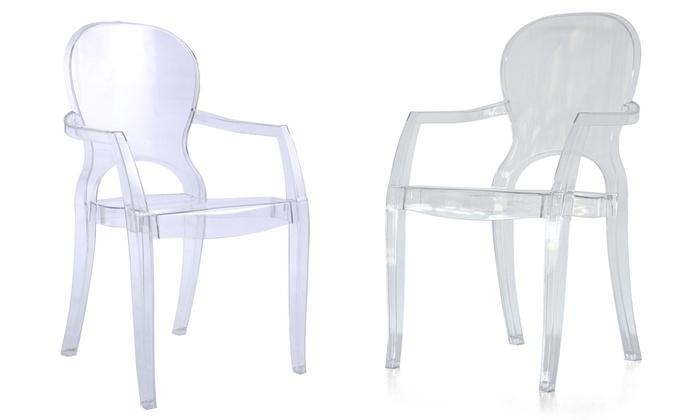 Sedie Di Plastica Trasparenti : Sedie in metacrilato trasparente groupon goods