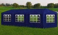 Grande tente de réception en acier avec toit et côtés amovibles