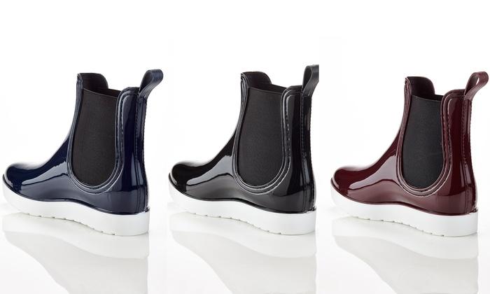 Henry Ferrera Women's Chic Platform Rain Boots