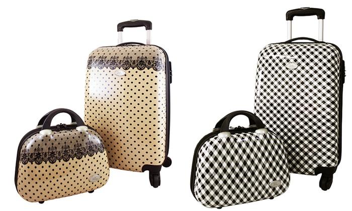 Jacki Designs Hard-Case Luggage | Groupon