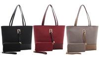 Nora Suede Tote Handbag and...