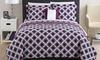 100% Cotton Boho-Printed Reversible Quilt Set (4-Piece): 100% Cotton Boho-Printed Reversible Quilt Set (4-Piece)