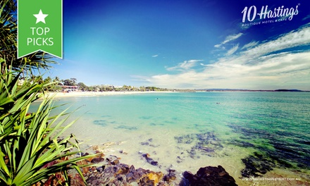 Noosa: 2 or 3 Nights Beach Escape + Breakfast, Bottle of Wine and Late Checkout at 10 Hastings Street Boutique Motel