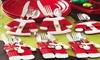 2er-, 8er- oder 12er-Set Besteckhalter im Weihnachtsmann-Design