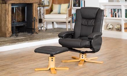 savanna bonded leather reclining chair