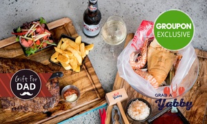 Grab-A-Yabby: Dining Experience with Wine or Beer for Two ($45) or Six People ($129) at Grab-A-Yabby - Perth (Up to $237 Value)