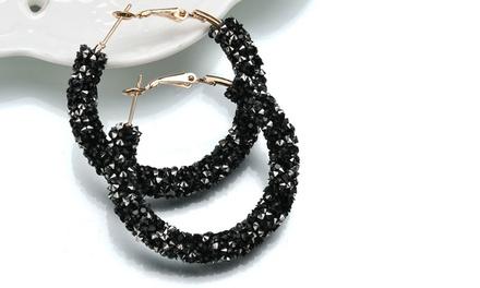1 ou 2 paires de créoles de la marque Romatco ornées de cristaux