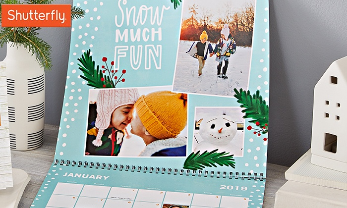 Personalized Wall Calendar Shutterfly Groupon