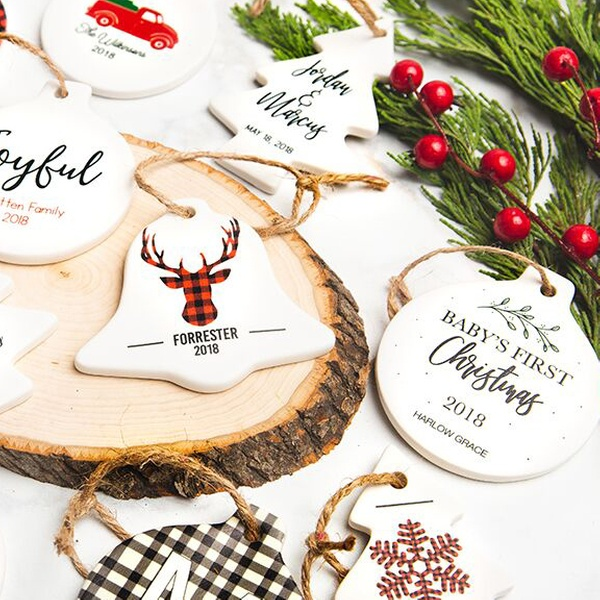 663ce55863f2 Personalized Porcelain Christmas Ornaments from Qualtry (Up to 70% Off)