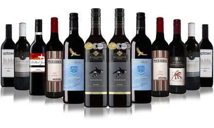 $75 Bottle Shiraz Bliss Mixed Case including Wolf Blass Shiraz and Allegiance Shiraz Don't Pay $299