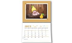 Personaliza.com: Calendarios de pared personalizados 20x30, 30x42 o 42x60 cm con envío gratuito desde 17,90 € en Personaliza.com