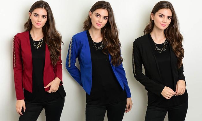 Women's Junior Chain Detail Blazers