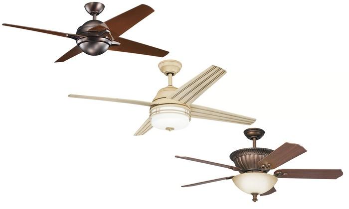 kichler 52u201354 inch ceiling fans with included light fixture kit kichler 52u2013 - Kichler Fans