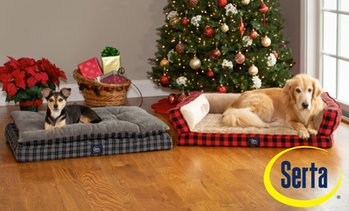Serta Orthopedic Plaid Pet and Dog Bed