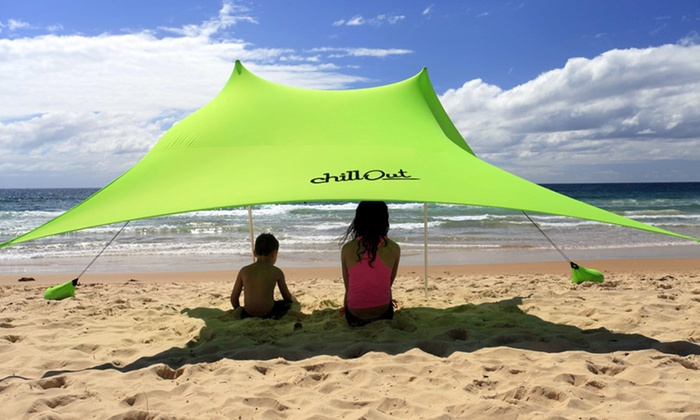 Ozchillout Chillout stakeless beach tent Tento Cosi ($125) ... & Chillout stakeless beach tent | Groupon Goods