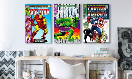 Vintage Marvel Comic Book Covers on Gallery-Wrapped Canvas