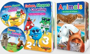 Rock 'N Learn Colors, Counting & More Board Book and DVD Set