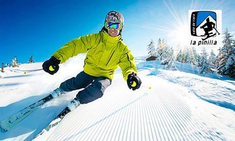 Forfait para 1 persona con opción a alquiler de equipo de esquí o snow en La Pinilla (hasta 51% de descuento)