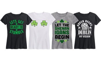 Women's Funny Shamrock St. Patrick's Day Tee. Plus Sizes Available.