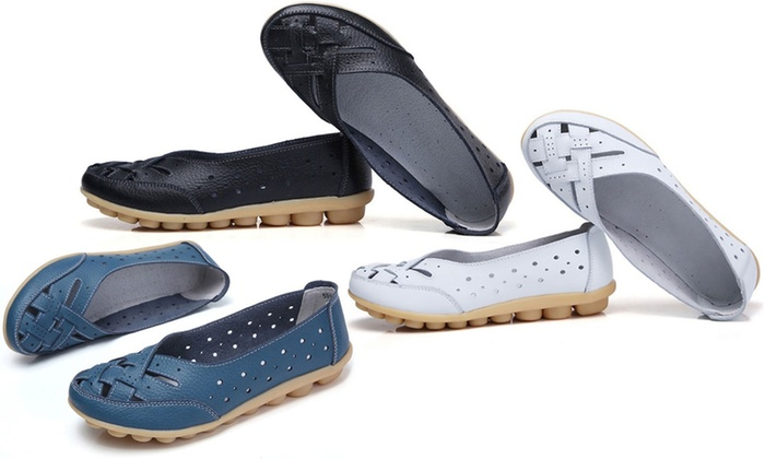 Comfy Slip-On Women's Leather Moccasins
