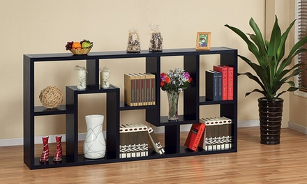 Verena Contoured Leveled Display Cabinet Bookcase for AED 399 (56% Off)
