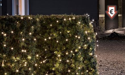 Konstsmide LED-Lichterkette für den Außenbereich, batteriebetrieben, mit 120 warm-weißen oder bunten Dioden (Hamburg)