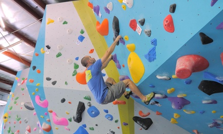 One-Day Pass with Shoe Rental for One, Two, or Four at Transcend Bouldering Lounge (Up to 37% Off)