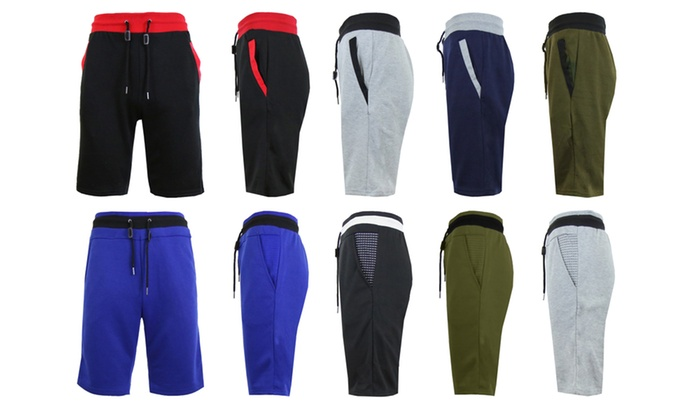 81% off Harvic Galaxy Men's French Terry Contrast Sweat Shorts (2-Pack)