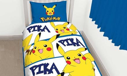 parure de lit pour enfant pokemon groupon. Black Bedroom Furniture Sets. Home Design Ideas
