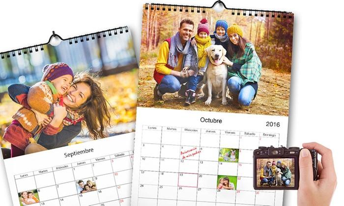 Groupon Calendario.Calendario Personalizado A3 Groupon Goods