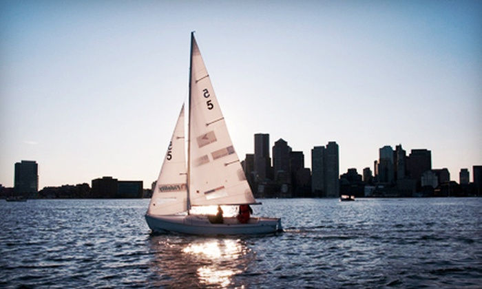 Courageous Sailing - Charlestown: Lesson or Harbor Cruise for Four, or a Keelboat Course and Membership at Courageous Sailing (Up to Half Off)