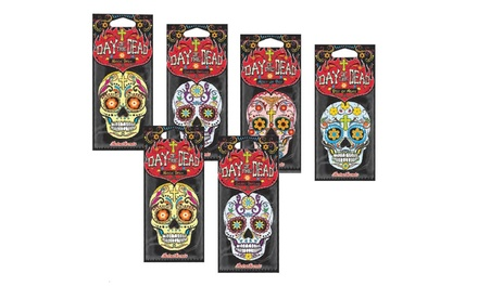6 £4.99, 12 £8.99 or 24 £16.99 Retroscents Day of the Dead 2D Car Air Fresheners