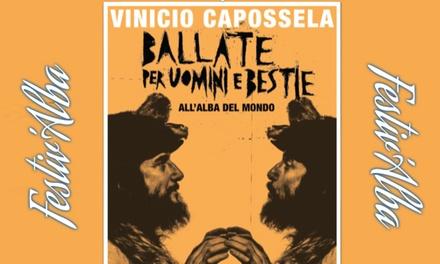 Sconto Biglietti Eventi Groupon.it Festiv'Alba 2019 - Concerto di Vinicio Capossela il 6 agosto all'Anfiteatro Romano di Alba Fucens