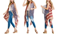 American Flag Womens Cardigan