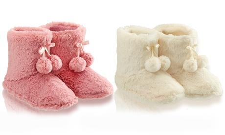 Zapatillas de casa con pompones