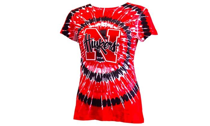 NCAA Nebraska Huskers Women's Tie-Dye Tee (Large): NCAA Nebraska Huskers Women's Tie-Dye Tee (Large)