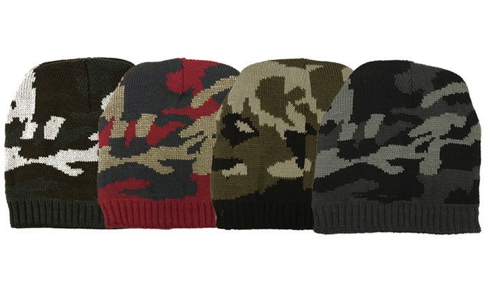 Warm Winter Camouflage Beanies