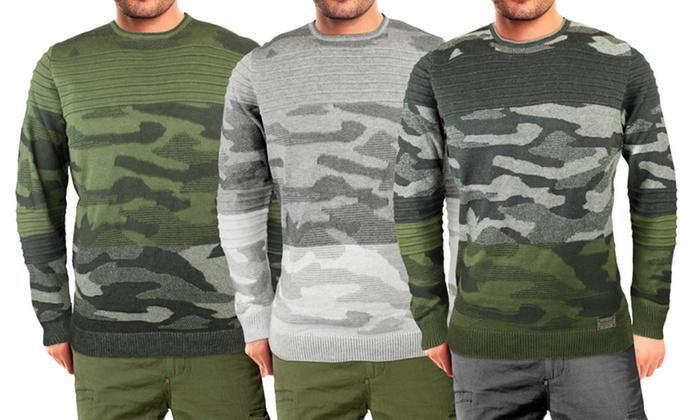 Maglione da uomo camouflage Vienna