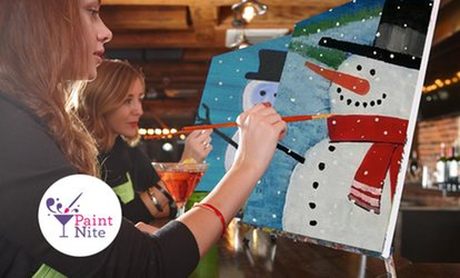 image for The Original Paint Nite at Local Bars (Up to 46% Off)