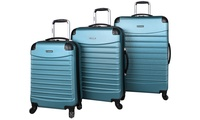 Groupon.com deals on Ciao Voyager Hardside Spinner Luggage Set (3-Piece)