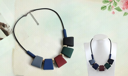One, Two, or Three Trendy Geometrical Cube Neck-Pieces from Novadab (Up to 87% Off)