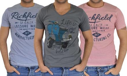 T-shirt da uomo Richfield in cotone disponibile in vari modelli e taglie da 12,90 €