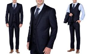 Uomo Men's Slim-Fit Three-Piece Suit