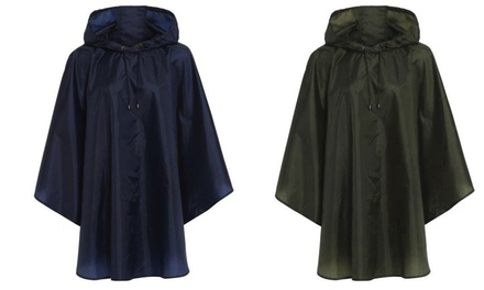 Women's Hooded ShowerResistant Poncho for £5.50