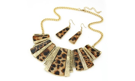 Leopard Print Jewellery Set